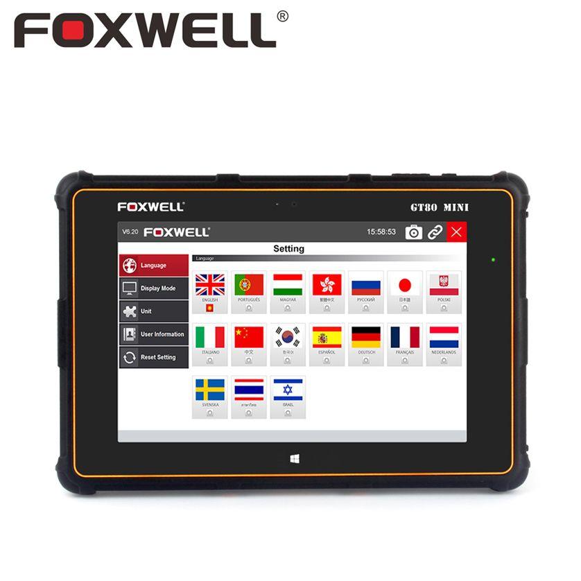 FOXWELL GT80 Mini Professional Full System Functions Car OBD OBD2 Diagnostic Tool Injector Coding DPF Air Bag SRS ABS TPMS Reset