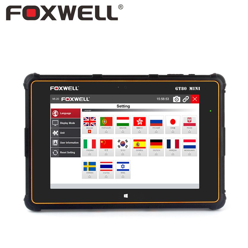 FOXWELL GT80 Mini Professional Full System Functions Car OBD OBD2 Diagnostic Tool Injector Coding DPF Air Bag SRS ABS TPMS Reset