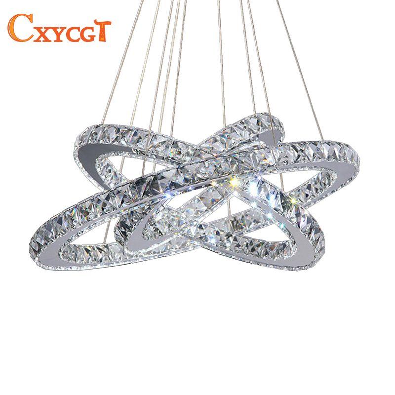 3 diamant Ring LED Kristall Kronleuchter Licht Moderne LED Beleuchtung Kreise Lampe 100% Garantieren Schnelle und Freies Verschiffen