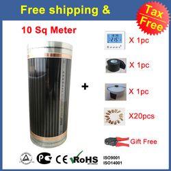 Vente chaude, d'impôt et Gratuite Livraison 110 W/M infrarouge Lointain 10 Mètre Carré (50 cm X 20 m) Chauffage Par le Sol Film AC220V