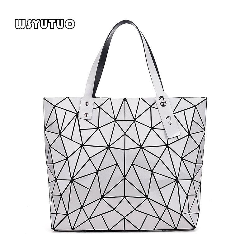 WSYUTUO sac à main femme plié dames géométrique Plaid sac mode décontracté fourre-tout femmes sac à main sac à bandoulière