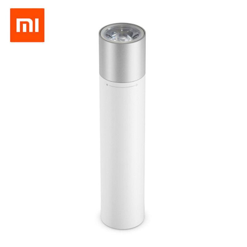 Original Xiaomi Tragbare Taschenlampe Einstellbare Leuchtdichte Modi Drehbare Lampe Kopf Lithium-USB Lade Port Batterie 3350 mah