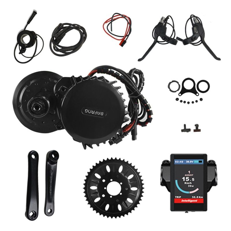 Electric Bike Middle Engine Kit 48V 1000W 120mm 46T Bafang 8Fun BBS BBS03 BBSHD Mid Drive Motor Conversion Kit with Display