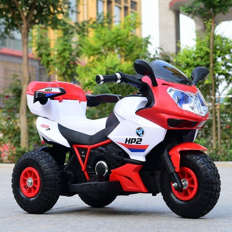 Children's inflatable tires electric motorcycle baby tricycle large 1 to 12year-old child charge bottle toys can take people rem