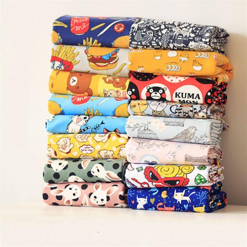Livraison gratuite 50x145 cm patchwork Toile À Coudre tissu Jouet de dessin animé toile de lin Tissu Enfants textile de maison sac d'école pour la Couture