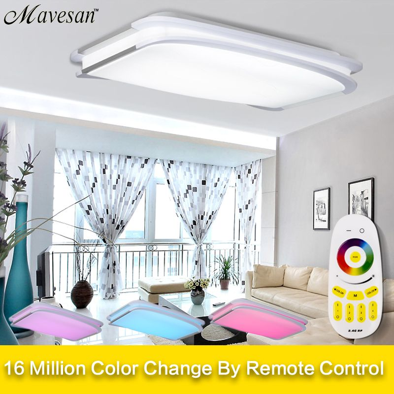 Modern Ceiling Lights bedroom remote or switch Ceiling lamps for living room for 15-30square meters 90V-260V plafonnier