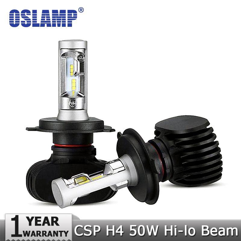 Oslamp H4 Hi-Lo Beam LED Car Headlight Bulbs 50W 6500K 8000lm Auto Led Headlamp CSP Chips Headlights for Toyota/Hyundai/Kia