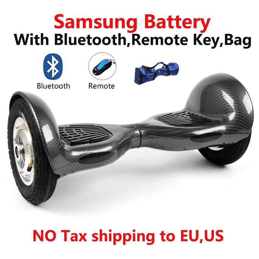 2 wheel Self balance Electric scooter Bluetooth/remote/Bag /samsung battery 10 inch Skateboard Standing Drift Board Hoverboard