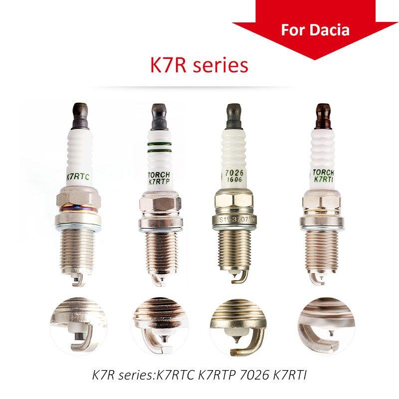 4 pcs/lot Chine d'origine TORCHE Iridium spark plugs K7R Série pour DAEWOO Voyageur berline; NEXIA 1.5 16 v 1.6 A15MF F16D3 Bougies de Préchauffage