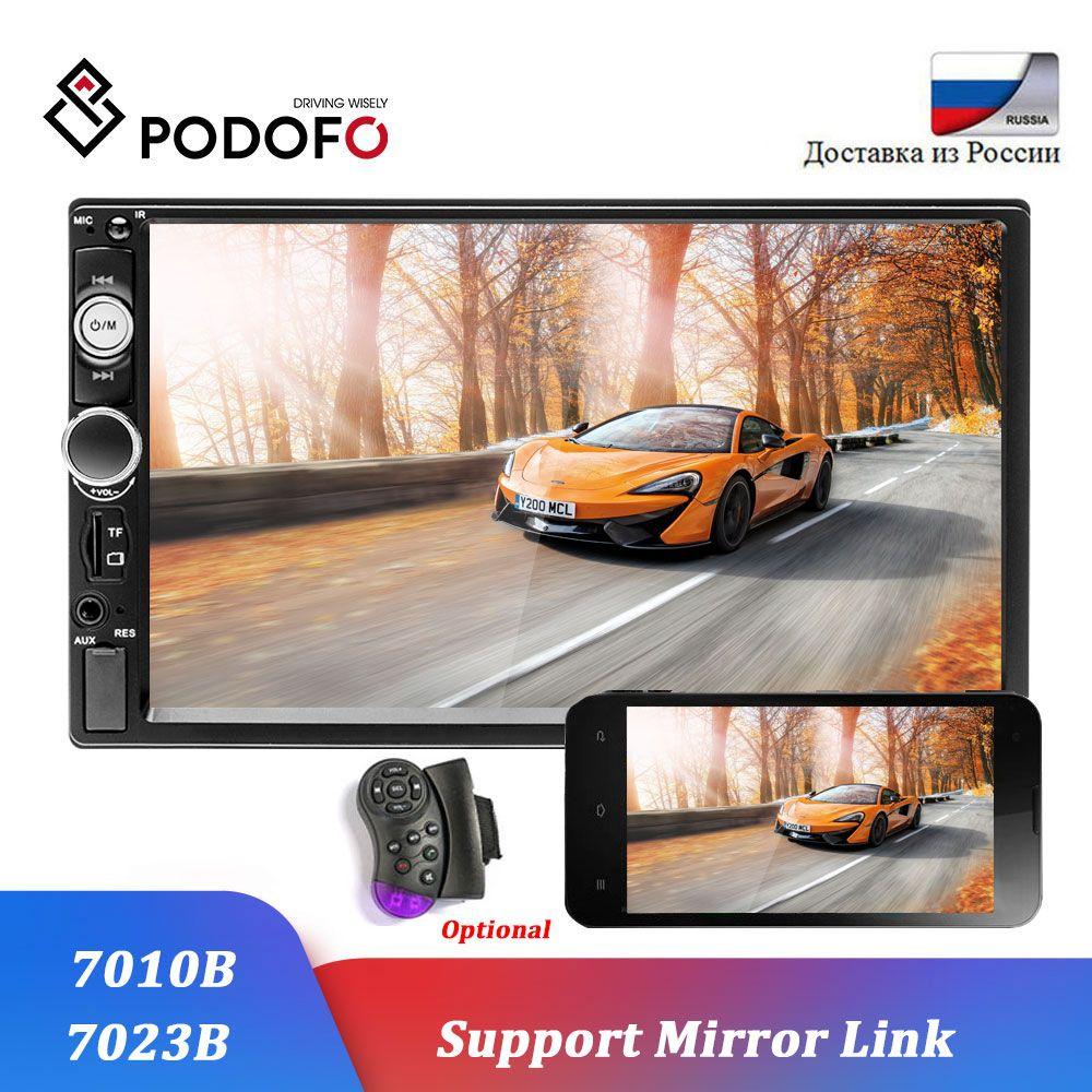 Podofo autoradio 2 din voiture modèles 7 pouces écran tactile Bluetooth autoradio lecteur 2DIN voiture audio AUX FM support caméra de recul