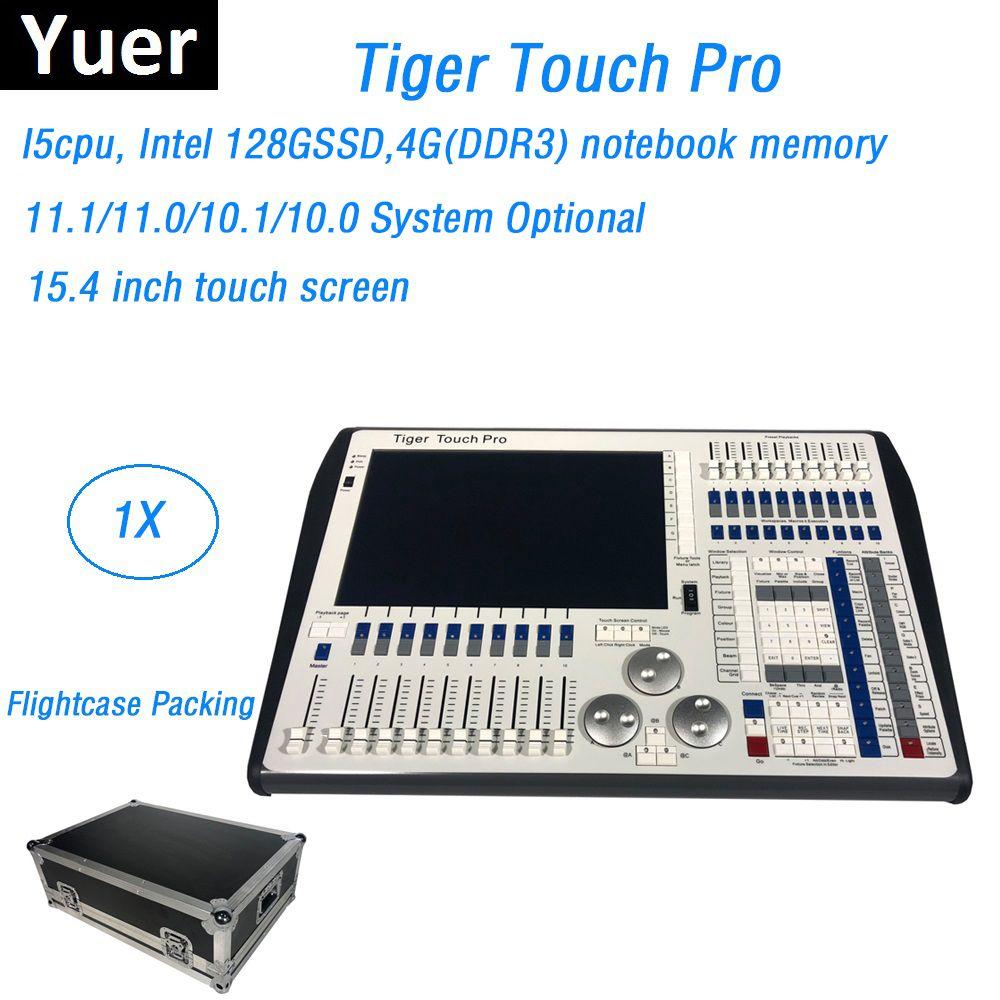 Flight Verpackung DMX Bühne Dj Beleuchtung Controller 11,1 System Tiger Touch Pro Konsole Control LED Par Moving Head Strahl Lichter