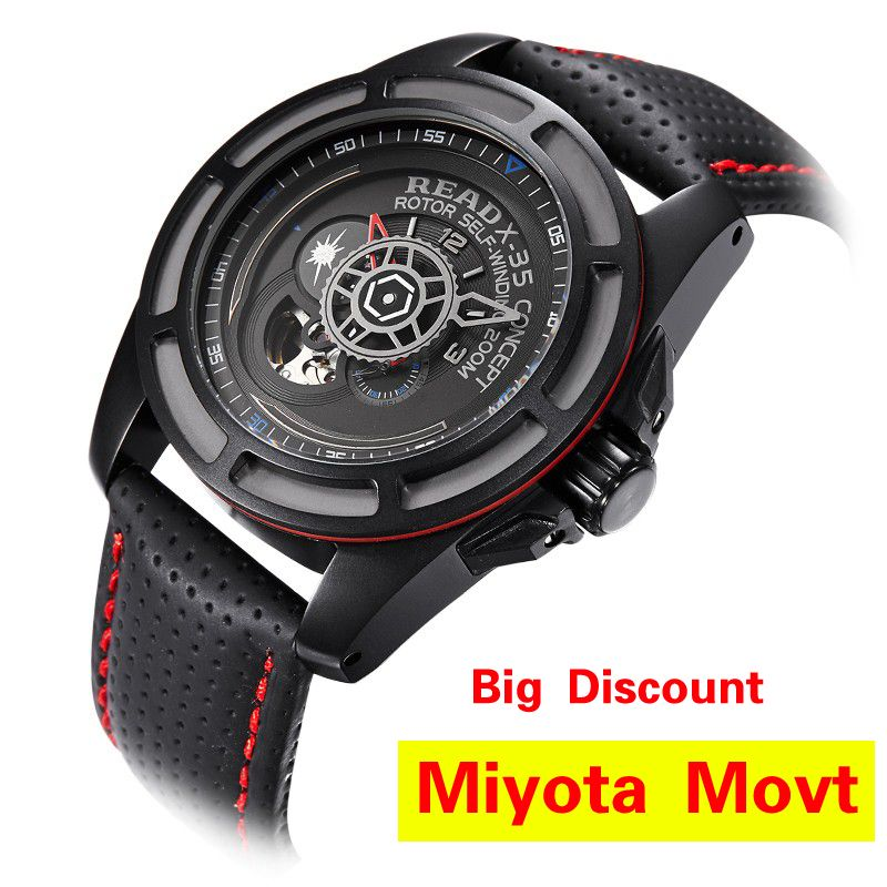 2017 READ Top Brand Watch Men Watches Men Army Watches Steel Sport Military Men Wristwatch Black Automatic Mechanical Movement
