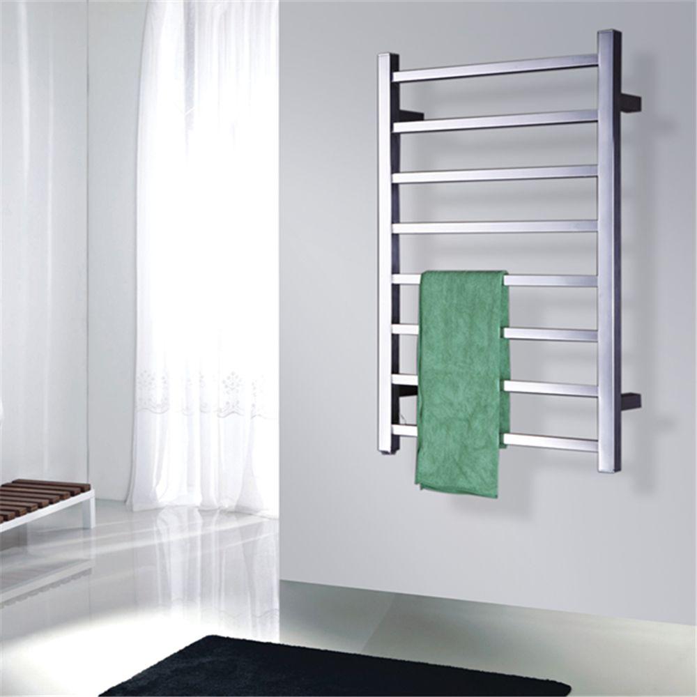 Popular Type Heated Towel Rails Bathroom Assessories Electric Heated Towel Rack Square bars Towel drying Heater TW-SQ8