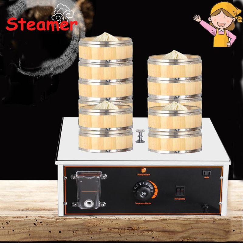 Electric Food Steamer Desktop Steamed Buns Machine Insulation Steaming Pot Small Steamer Business Equipment HF-600ZBL