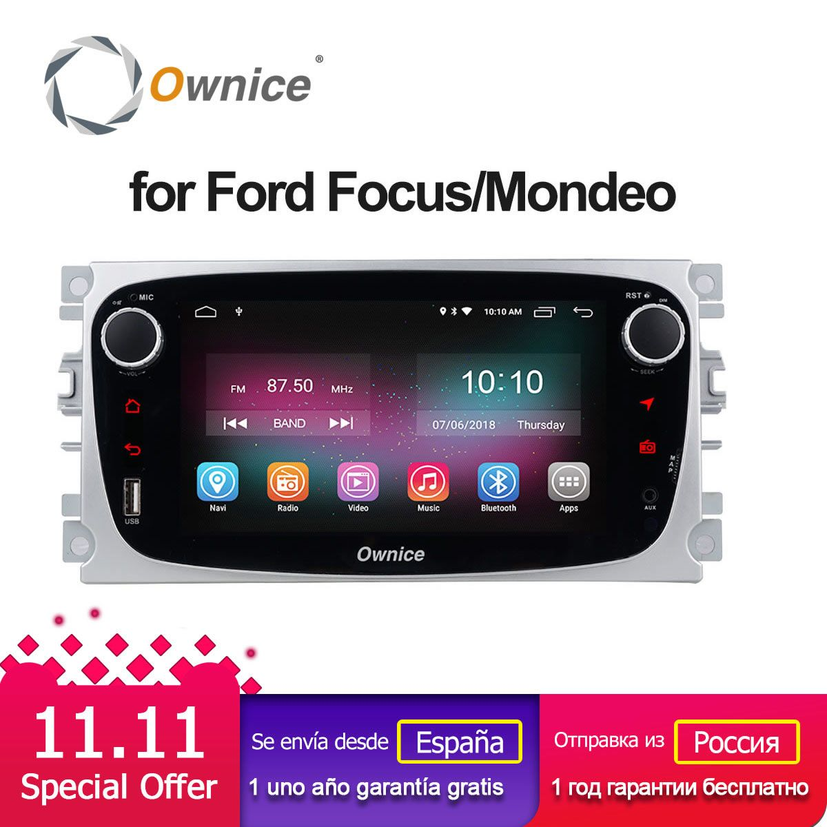 Ownice C500 G10 Android 6.0 Octa 8 Core Car DVD Player For FORD Mondeo S-MAX Connect FOCUS 2 2008-2011 With Radio GPS 4G LTE
