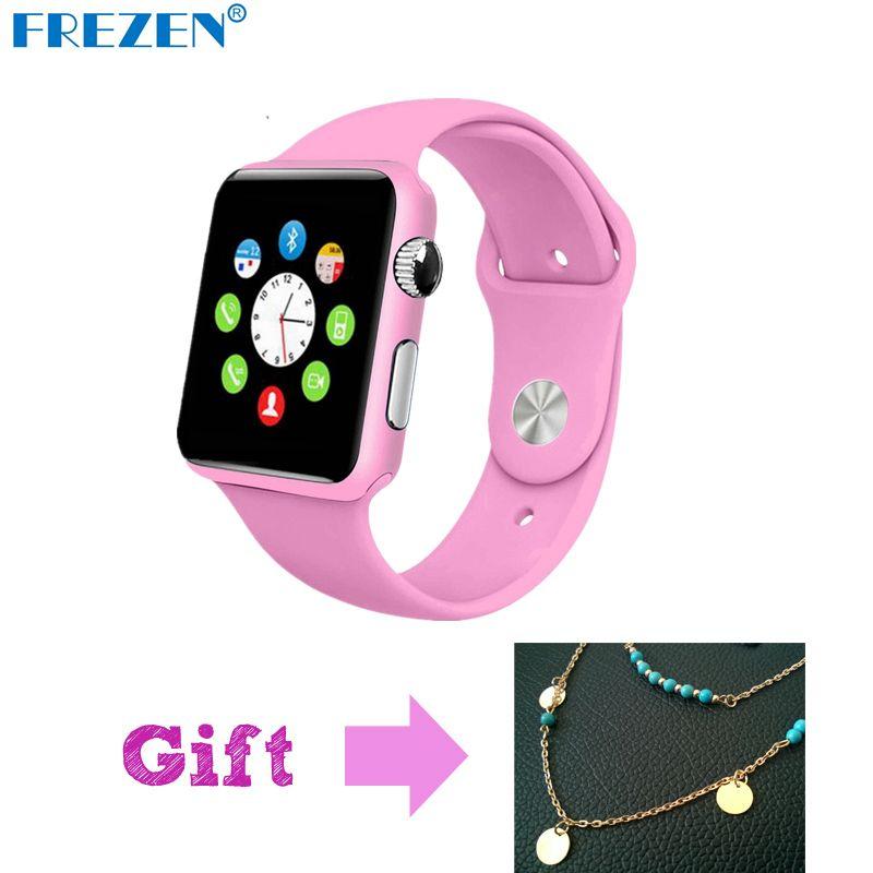FREZEN G11 Reloj Inteligente Bluetooth Rosa de Fitness Reloj de pulsera Para Las Mujeres Regalo reloj con Tarjeta Sim Android Inteligente Smartwatch