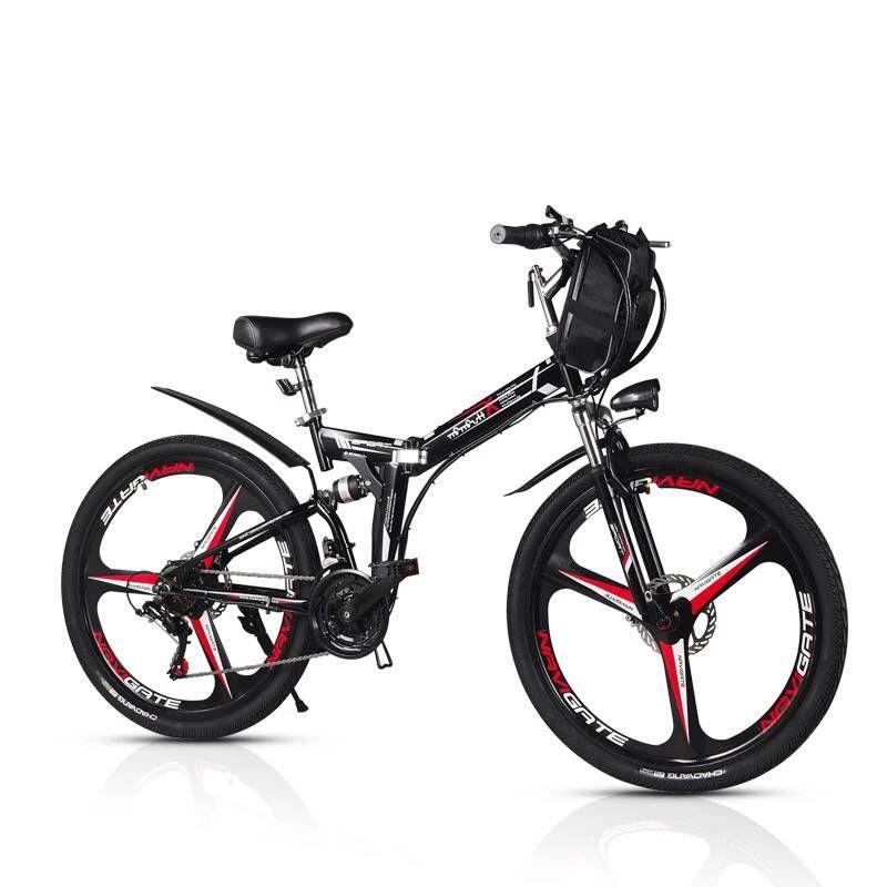 Hohe qualität 26 inch elektrische fahrrad 48V350W klapp elektrische fahrzeug mountainbike lithium-batterie elektrische fahrzeug batterie