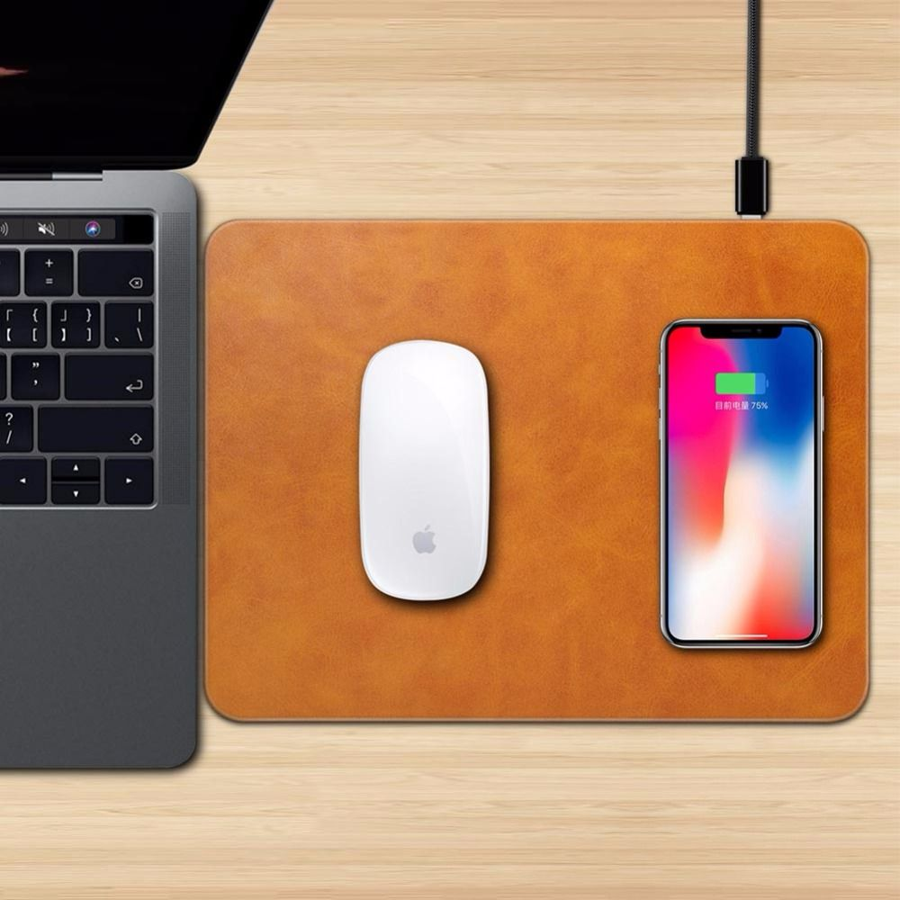 Mobile Phone Qi Wireless Charger Charging Mouse Pad Mat for iPhone X 8 8Plus for Samsung S8 Plus S7 S6 <font><b>Edge</b></font> Note 8 Note 5
