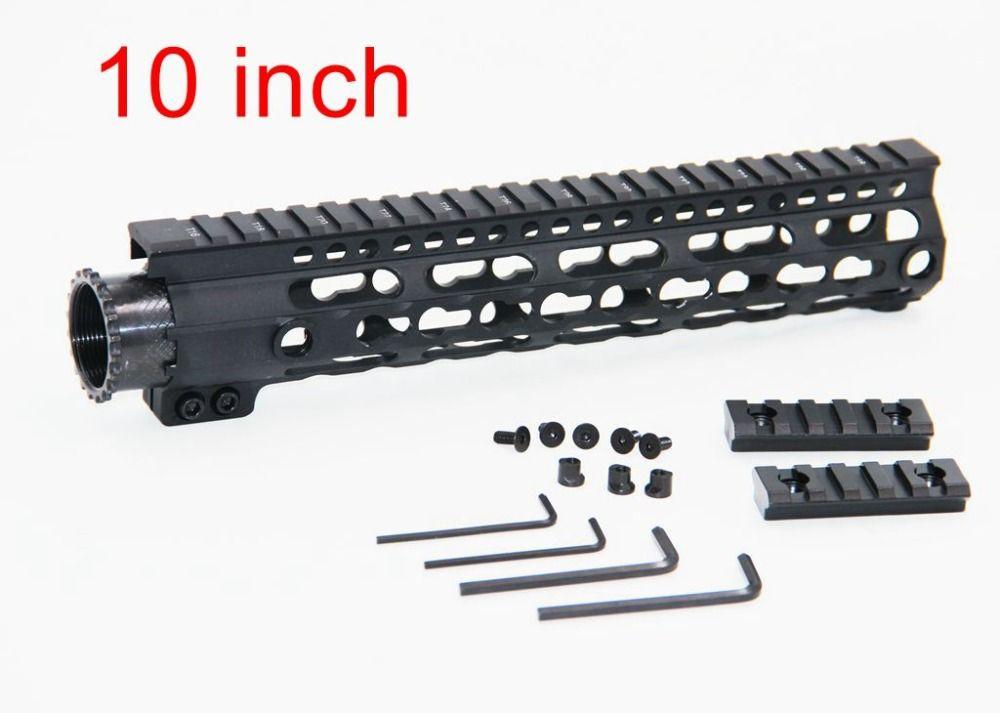 1pc Air gun Accessories 10 Light Weight Aluminum One Rail 12 inch Float Handguard Picatinny Quad Rail for AEG M4 M16 AR15