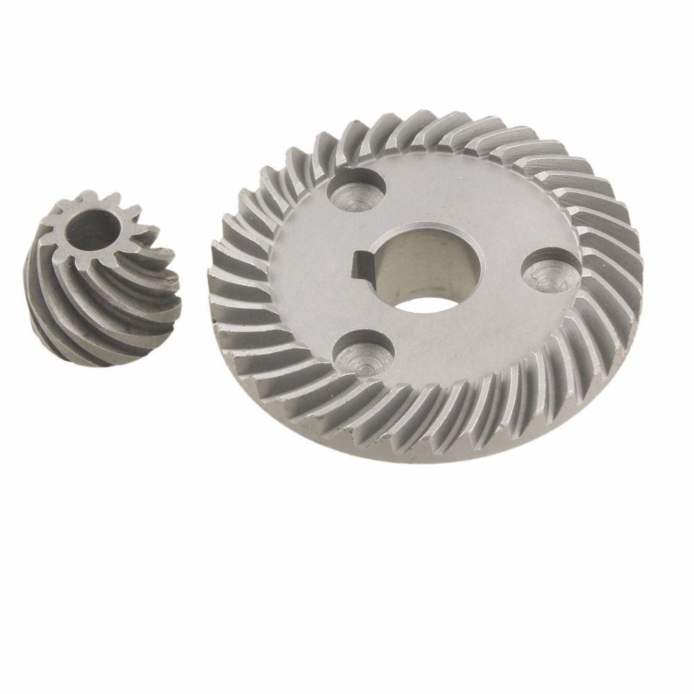 Neue Ankunft 2 Stücke Metall Spiralkegelradschneidmaschine Set für Makita 9553 Winkel Sander Getriebeteile Hochwertigen