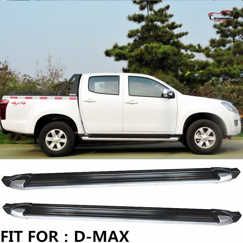 CITYCARAUTO side bar foot board pedal treadplate Side Step Bar Running Board fit for ISUZU D-MAX DMAX PICKUP CAR