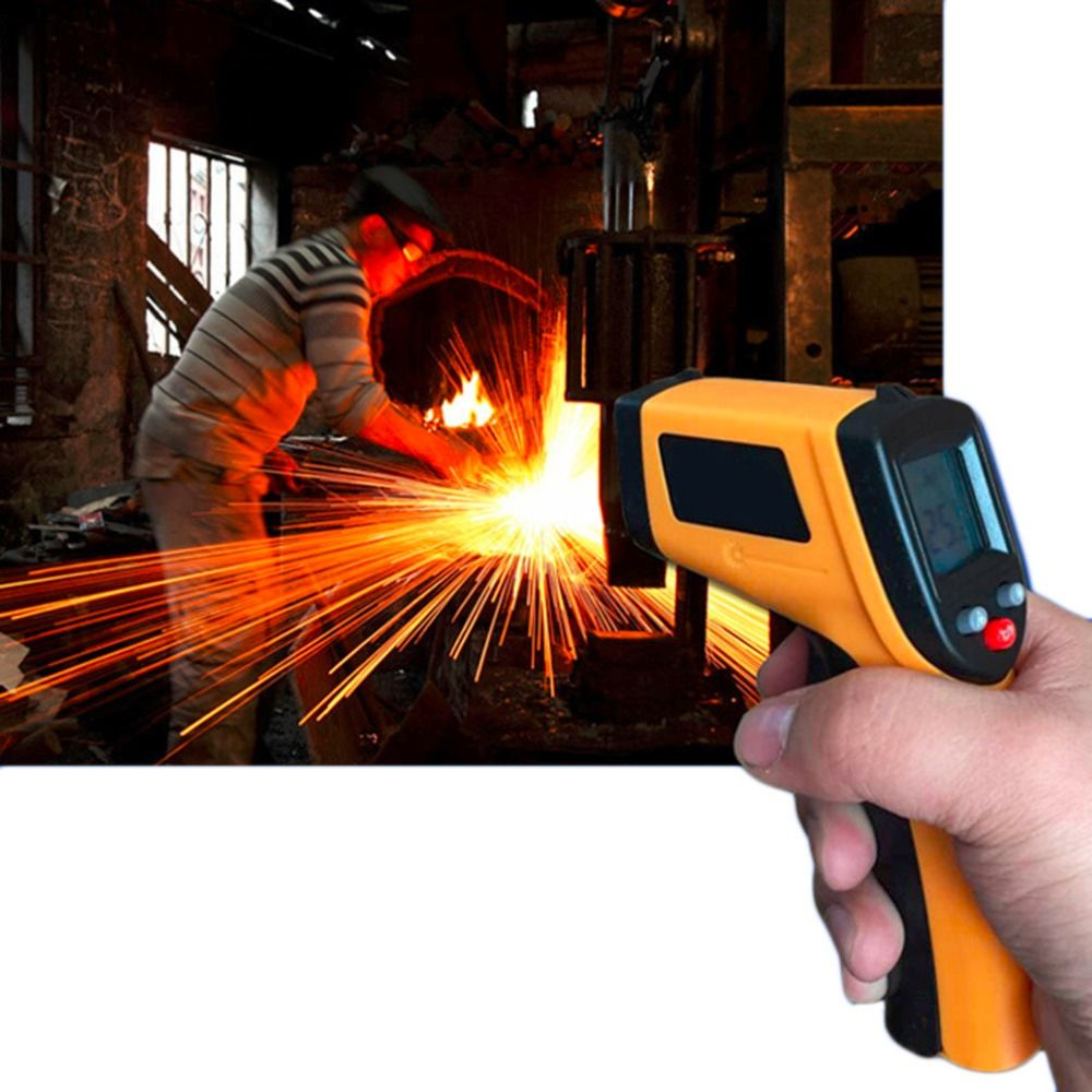 Non-Contact LCD Display IR Laser Infrared Digital Temperature Meter Sensor Thermometer Gun Point with Data Hold function