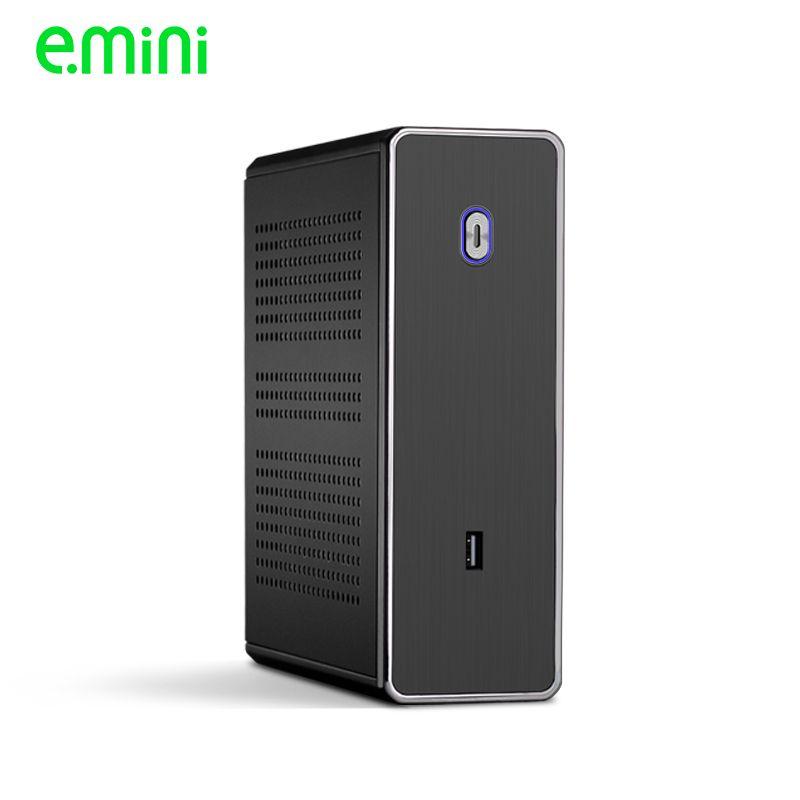 REALAN mini itx bureau htpc coque d'ordinateur E-C3 sans alimentation SGCC 0.8mm noir argent
