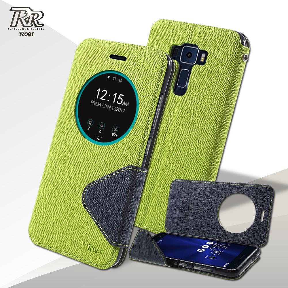 coque For Asus Zenfone 3 ZE520KL Case ROAR KOREA View Window Magnetic Leather Stand Case for Asus Zenfone 3 ZE520KL 5.2 inch