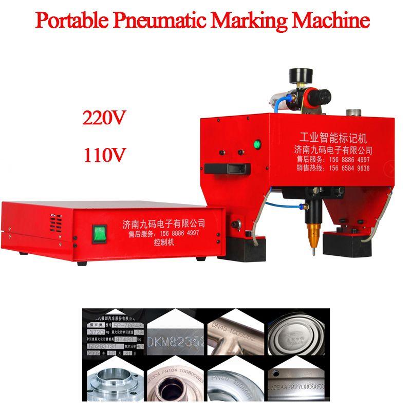 Tragbare Dot Peen Kennzeichnung Maschine Pneumatische Kennzeichnung Maschine Lkw Kennzeichnung Maschine 170x110mm Unterstützung Windows XP/WIN 7 JMB-170