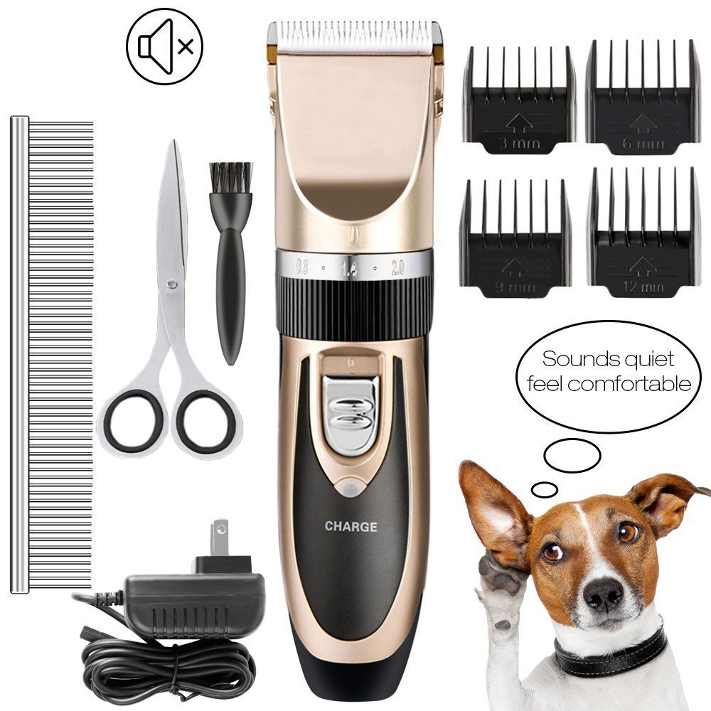 US/EU Plug Rechargeable Electrical Pet Clipper Professional Grooming Kit Pet Cat Dog Hair Trimmer Shaver Set Haircut Machine