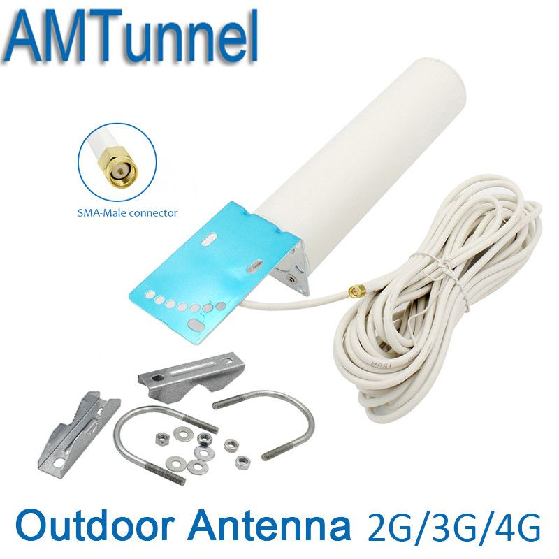 3G 4G LTE antenne mit 10 mt kabel SMA 4G antenne 3G booster antenne für signal booster repeater wifi router 4g modem