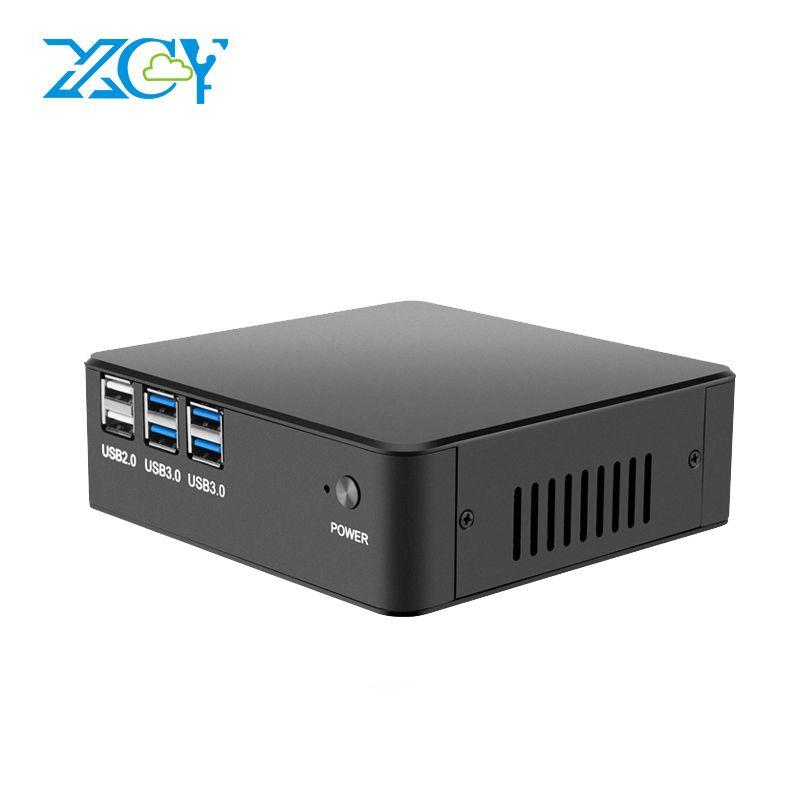 XCY Intel Core i7 7500U i5 7200U i3 7100U Mini PC Windows 10 DDR4 4GB 8GB RAM Support 4K UHD HDMI VGA 300M WiFi Minipc Office