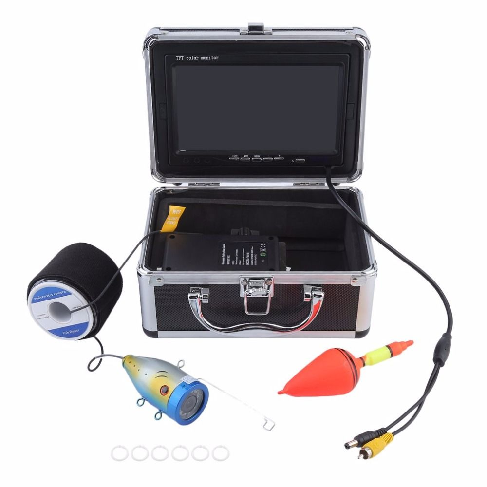 Professional Video Fish Finder 1000TVL Lights Controllable Underwater Fishing Camera Kit Lake Under Water Video Fish Finder