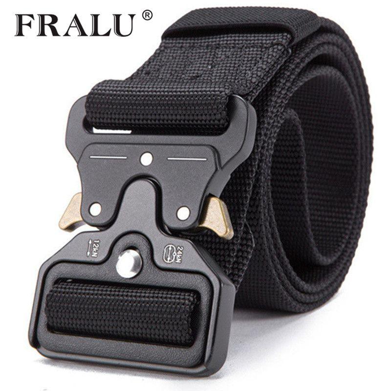 FRALU 2019 Hot Mens Tactical Belt Military Nylon Belt Outdoor multifunctional Training Belt High Quality Strap ceintures