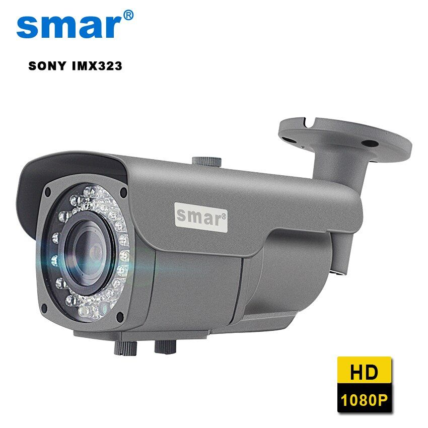 Smar Manual Focus 2.8-12mm Lens SONY IMX323 Sensor 2MP IP Camera with IR Cut Filter Night Vision Waterproof Outdoor 1080P Camera