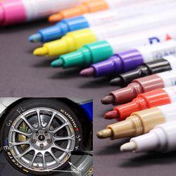 Coloré Étanche stylo Voiture De Pneu De Pneu CD Métal Permanent marqueurs De Peinture Graffiti Marqueur Huileux Stylo marcador caneta papeterie