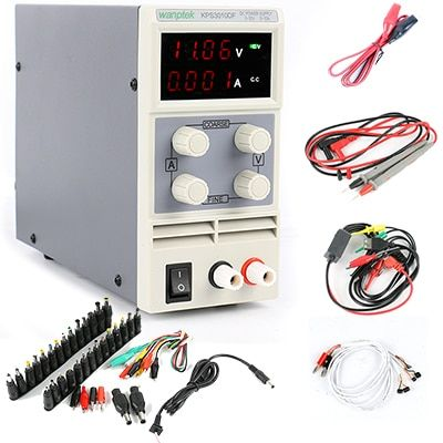 KPS-3010DF DC Switching Power Supply 30V 10A 0.01V 0.001A Digital Adjusted Laboratory Power Supply Phone Repair Tool DC Jack Set