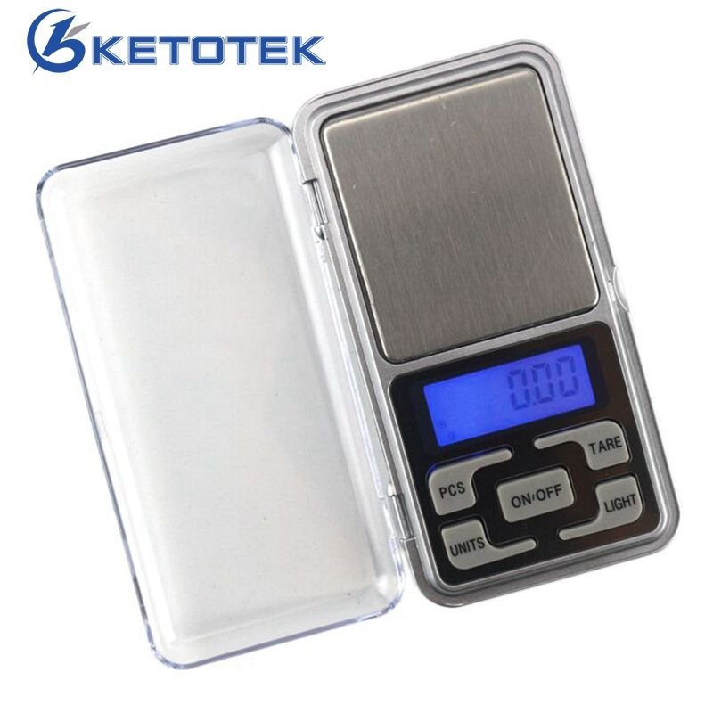 Ketotek 200g 500g Electronic Digital Precision Mini Scale Jewelry Scales Pocket Scale Balance 0.01 Accuracy for gold