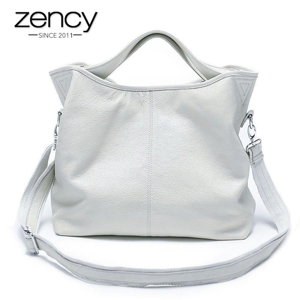 Zency gros mode femmes sac à main 100% en cuir véritable dames décontracté fourre-tout breloque pour sac épaule Messenger classique sacoche sac à main