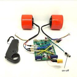 75 Mm 83 Mm Skateboard Listrik Brushless Motor Roda Kit Motor Listrik Roda untuk Skateboard Longboard E-Skateboard