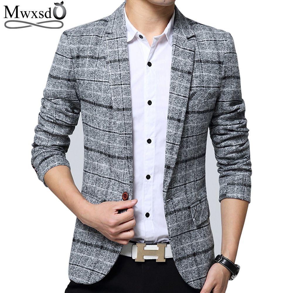 Mwxsd Марка Качество осенний костюм Блейзер Для мужчин мода тонкий мужской Костюмы Повседневное пиджак мужской пиджак Размеры M-3XL