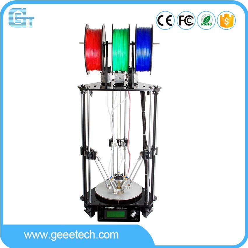Geeetech 3D-принтеры 3-в-1-вне экструдер росток 301 высокая точность качество металла с 3 м нити gtm32 Pro Управление доска