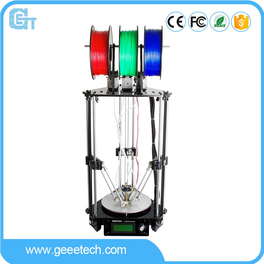 Geeetech 3D Printer 3-In-1-Out Extruder Rostock 301 High Precision Quality Metal with 3M Filament GTM32 Pro Control Board