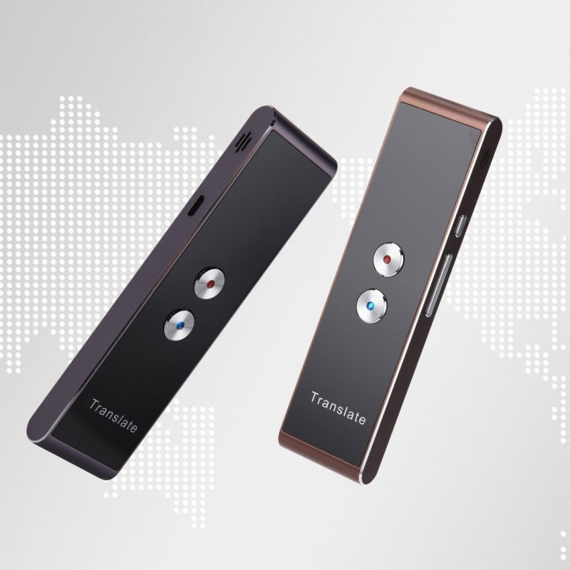Portable T8 Smart Voice Speech Translator Two-Way Real Time 30 Multi-Language Translation For Learning Travelling Business Meet