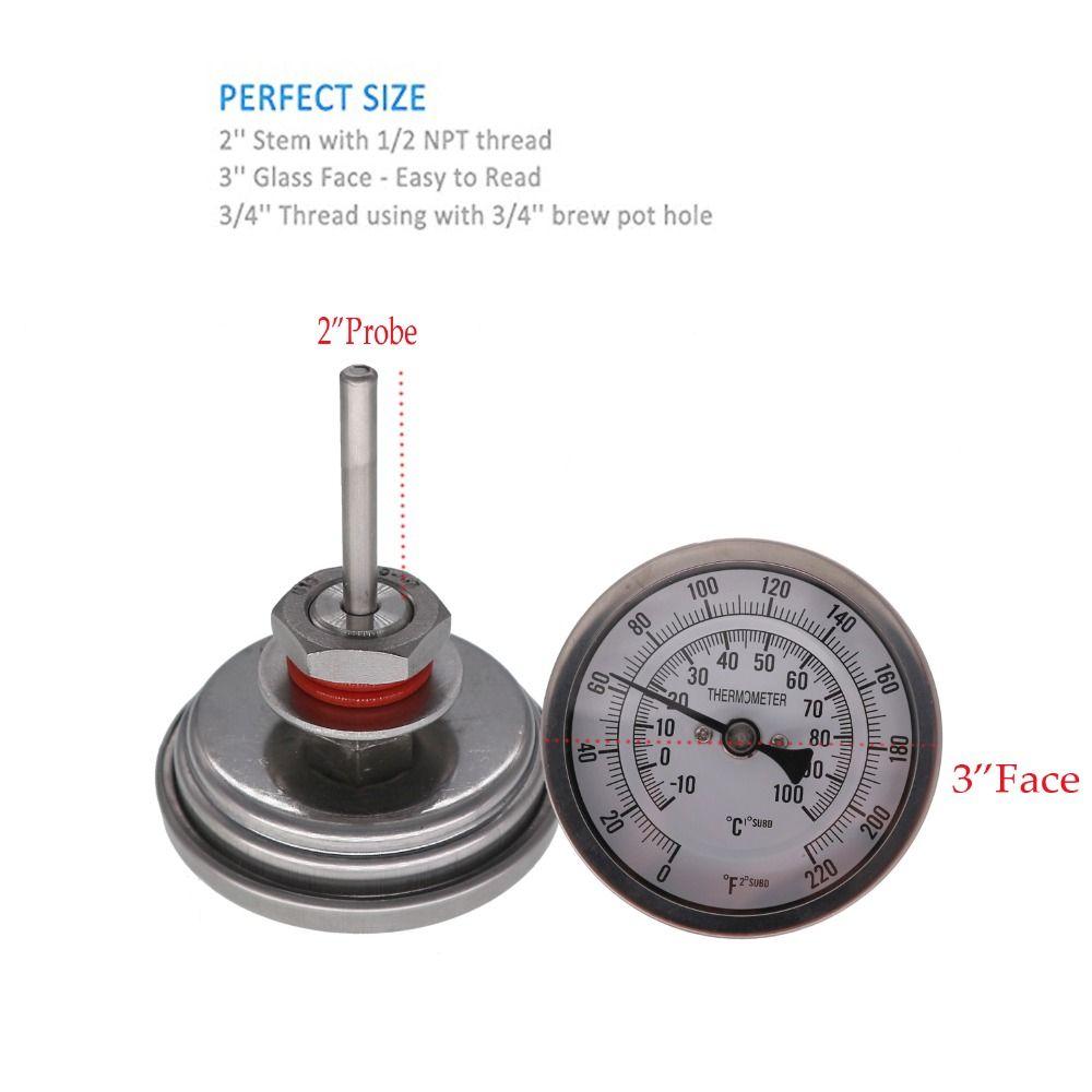 Sans soudure Bi-métal Thermomètre Kit, 3