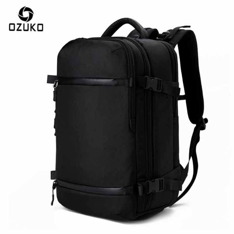 OZUKO Backpack Men's Brand Designer 15.6 inch Notebook Computer Big Men Backpack School Bags For Teenagers Women Waterproof Bags