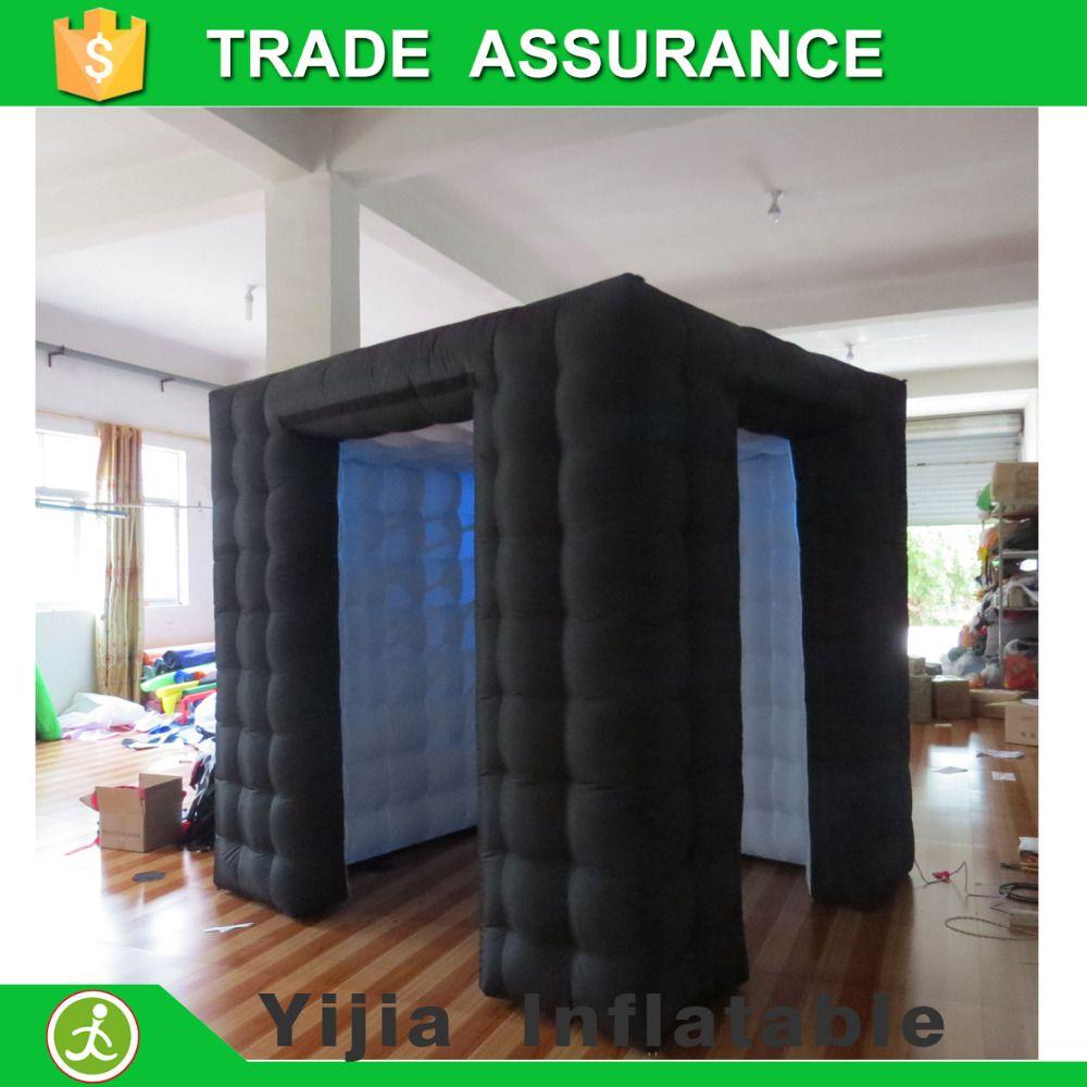 Hochwertige hochzeit aufblasbare photobooth led photo booth zelt