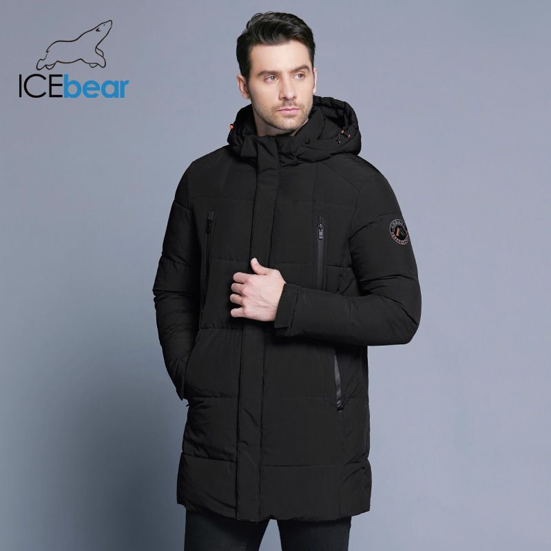 ICEbear 2018 Winter Jacket Men Slim Thick Warm Top Quality Waterproof Zipper Clothes For Men Fashion Winter Coats Man 17MD942D