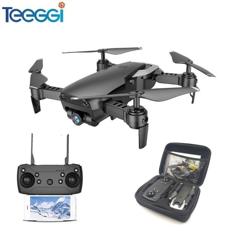 Teeggi M69 FPV Drone with 720P Wide-angle WiFi Camera HD Foldable RC Mini Quadcopter Helicopter VS VISUO XS809HW E58 X12 Dron