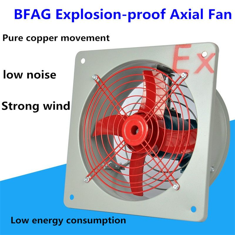 220V Explosion-proof Axial Fan Exhaust Fan Factory For High Power Underground Mine Tunnel Ventilation Plant